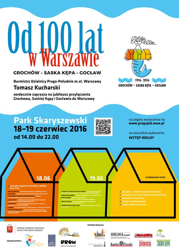 2016-06-18 i 19: Święto Saskiej Kępy i obchody przyłączenia Kępy do Warszawy