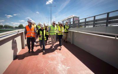 2017-07-31: nowy termin zakończenia budowy kładki rowerowej pod mostem Łazienkowskim