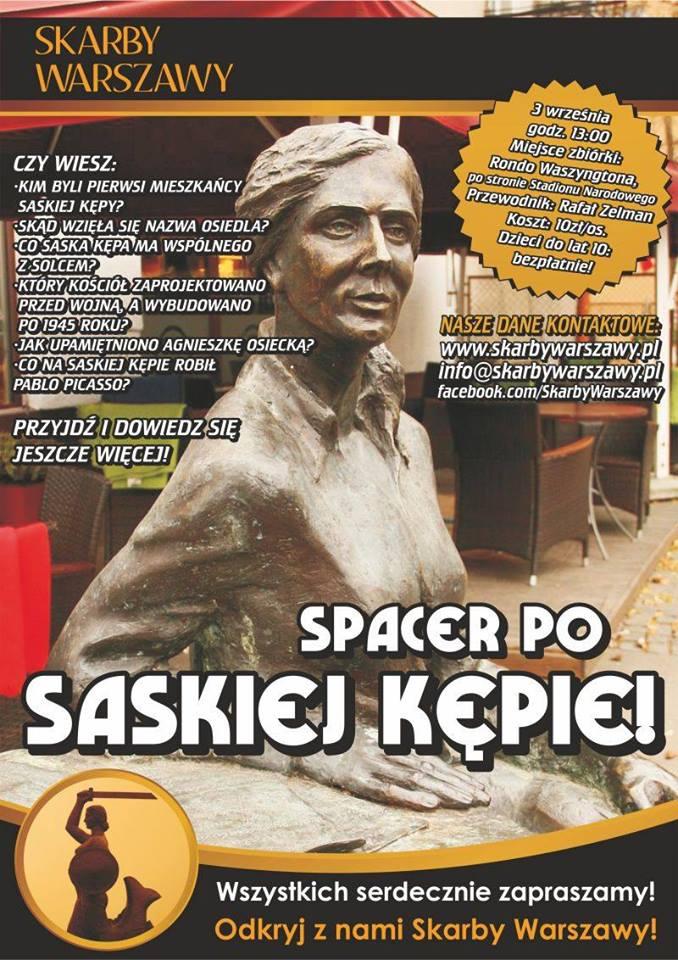 2016-09-03: Spacer po Saskiej Kępie ze Skarbami Warszawy