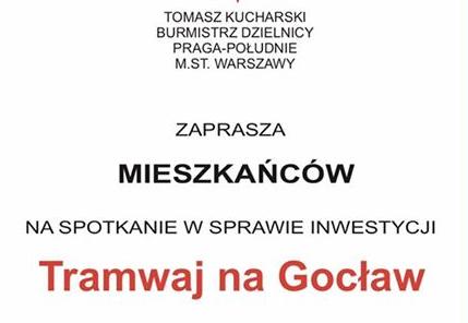 2017-02-08: spotkanie ws. tramwaju na Gocław