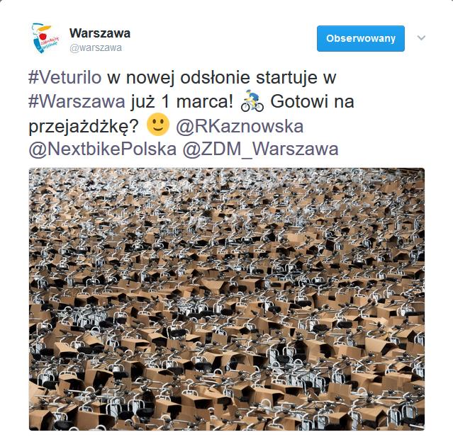 2017-03-01: start nowego sezonu Veturilo
