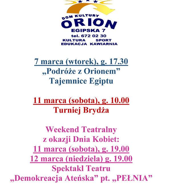 2017-03-18: spektakl dla dzieci w DK Orion