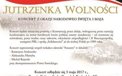 """2017-05-03: koncert """"Jutrzenka Wolności"""""""
