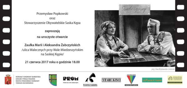 2017-06-21: Uroczyste otwarcie Zaułka im. Marii i Aleksandra Żabczyńskich