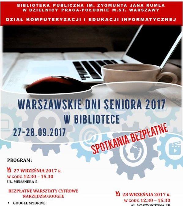 2017-09-28: Warszawskie Dni Seniora w bibliotece – spotkanie z doradcą cyfrowym