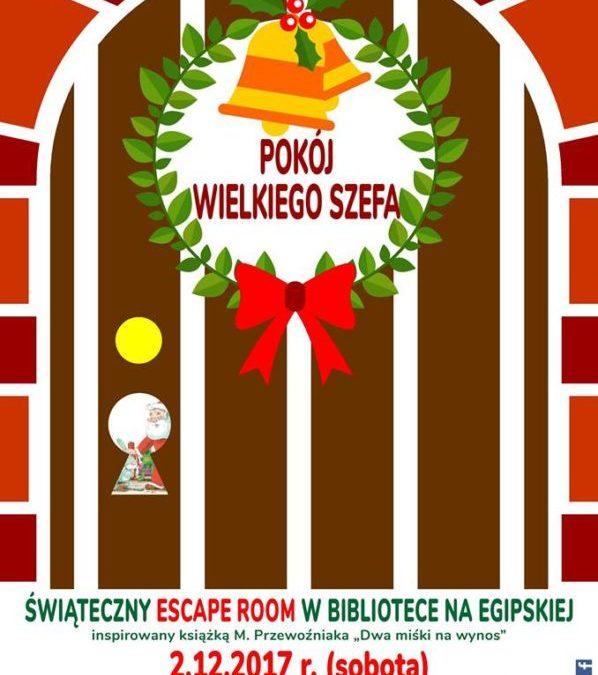 """2017-12-02: escape room """"Pokój wielkiego szefa"""""""