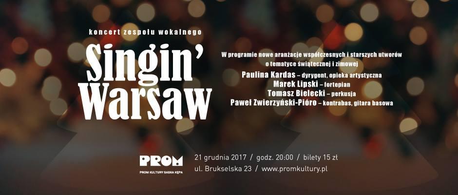 2017-12-21: Singin' Warsaw – koncert zespołu wokalnego