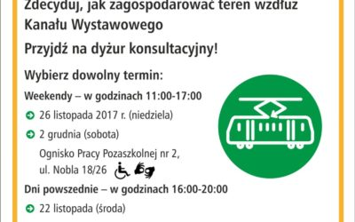 2017-11-22 (26, 28 i 02.12): Tramwaj na Gocław wśród zieleni – konsultacje